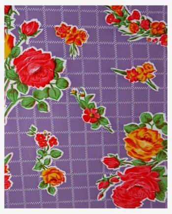 Toile cirée mexicaine rosedal violet