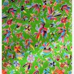 Toile cirée mexicaine oaxaqueno vert