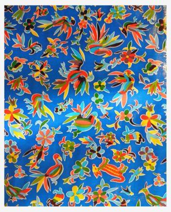 Toile cirée mexicaine oaxaqueno bleu