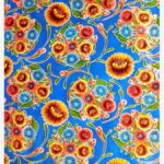 Toile cirée mexicaine dulce flor floral bleu