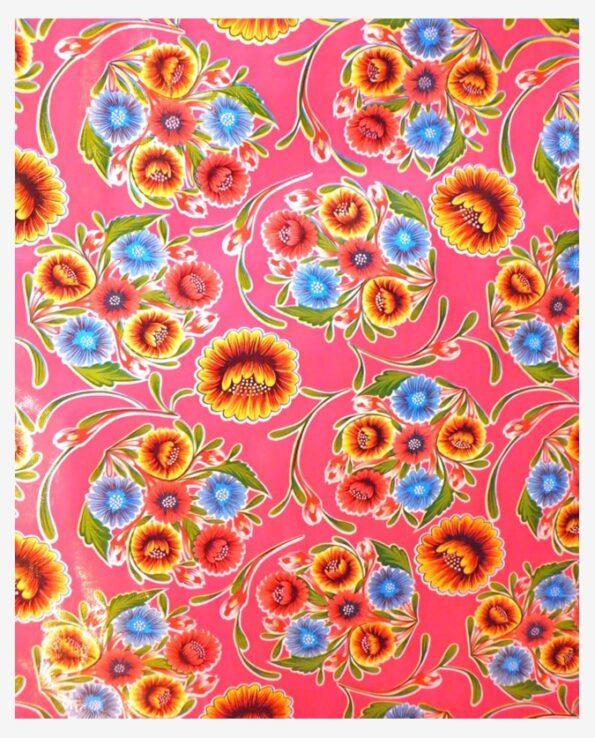 Toile cirée mexicaine dulce flor floral fuchsia