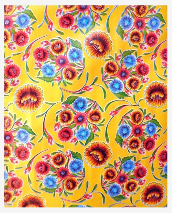 Toile cirée mexicaine dulce flor floral jaune