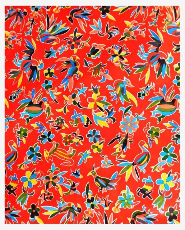 Toile cirée mexicaine oaxaqueno rouge