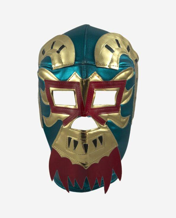 Masque de catch mexicain lucha libre Ephesto vert turquoise