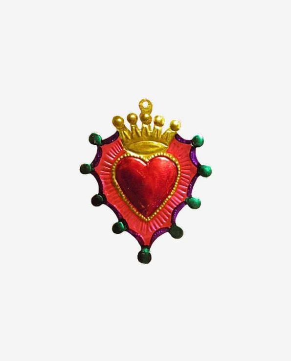 ex voto mexicain coeur et couronne