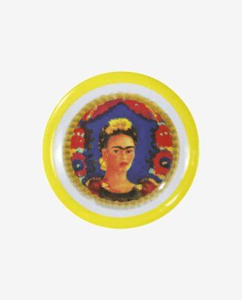 Assiette mélamine Frida Kahlo bord jaune