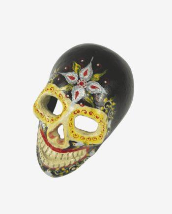 Crâne jour des morts noir - face