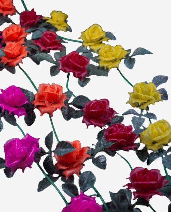 guirlande roses artificielles en provenance du Mexique