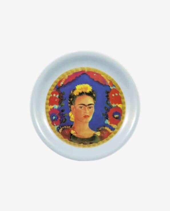 Assiette mélamine Frida Kahlo fond blanc