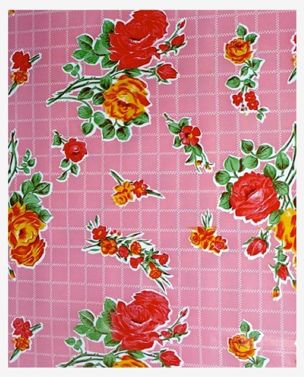 Toile cirée mexicaine rosedal rose