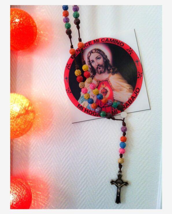 Sticker religieux image christ sacré coeur