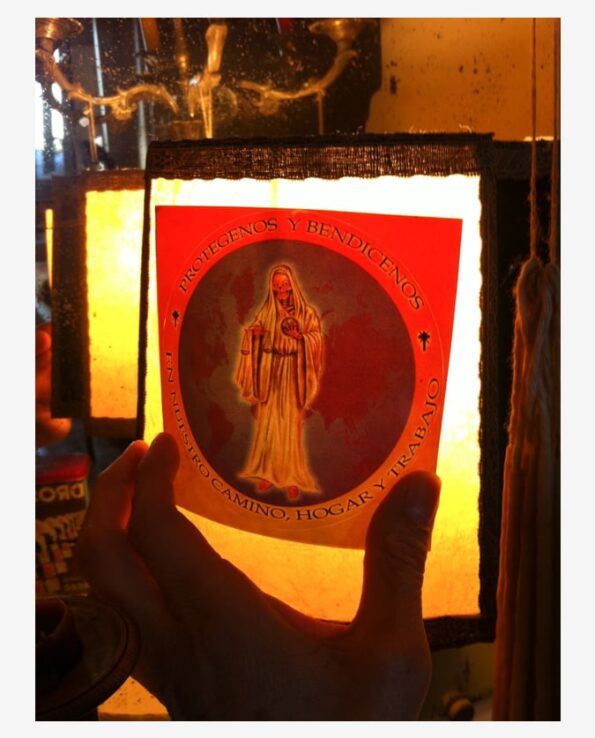 Sticker religieux image Santa Muerte