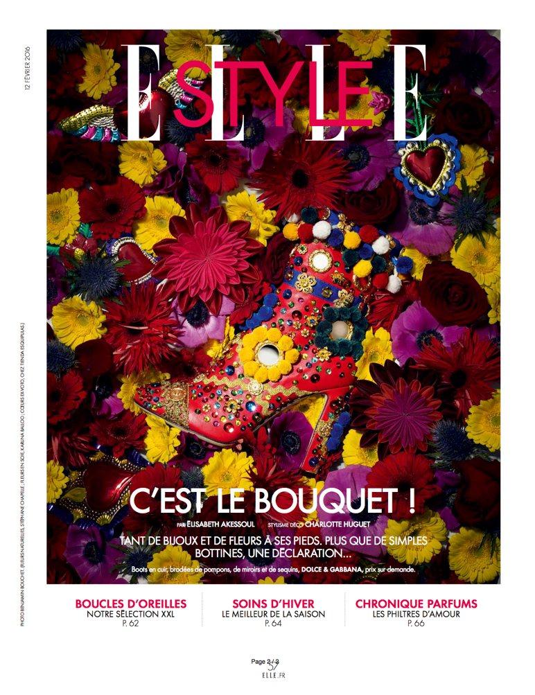 Coeurs ex-votos dans le magazine Elle de février 2016