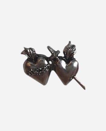 pins double coeur en provenance du mexique - pins fantaisie en métal