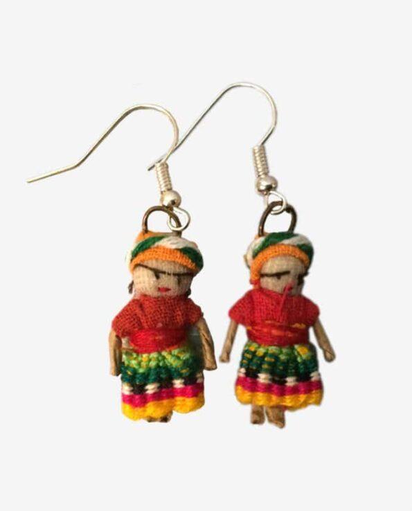 Boucles d'oreilles artisanales poupées tracas