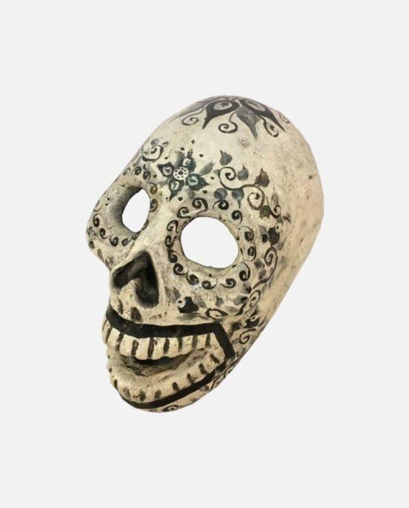 Crâne jour des morts blanc - face
