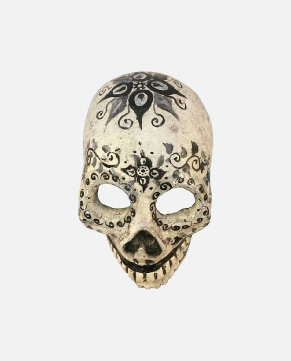 Crâne jour des morts blanc