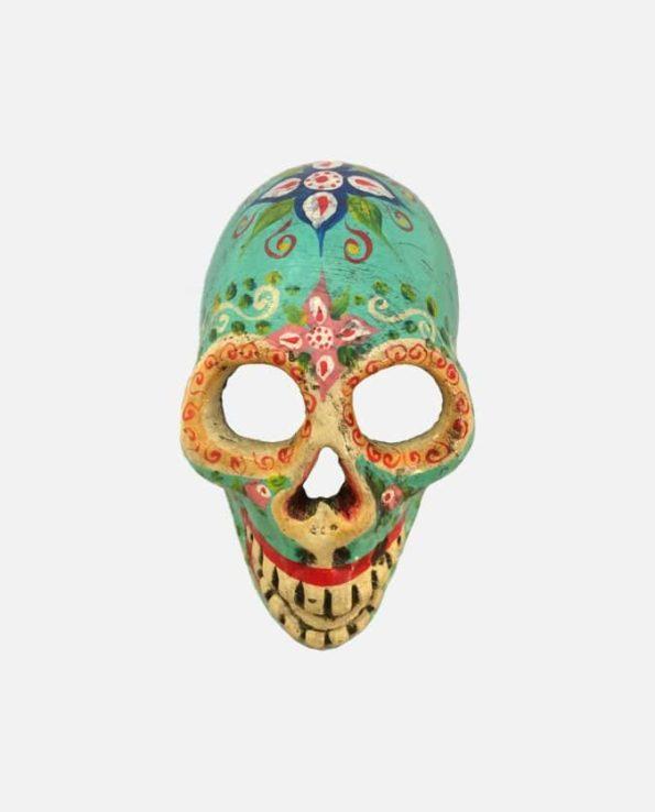 Crâne jour des morts turquoise