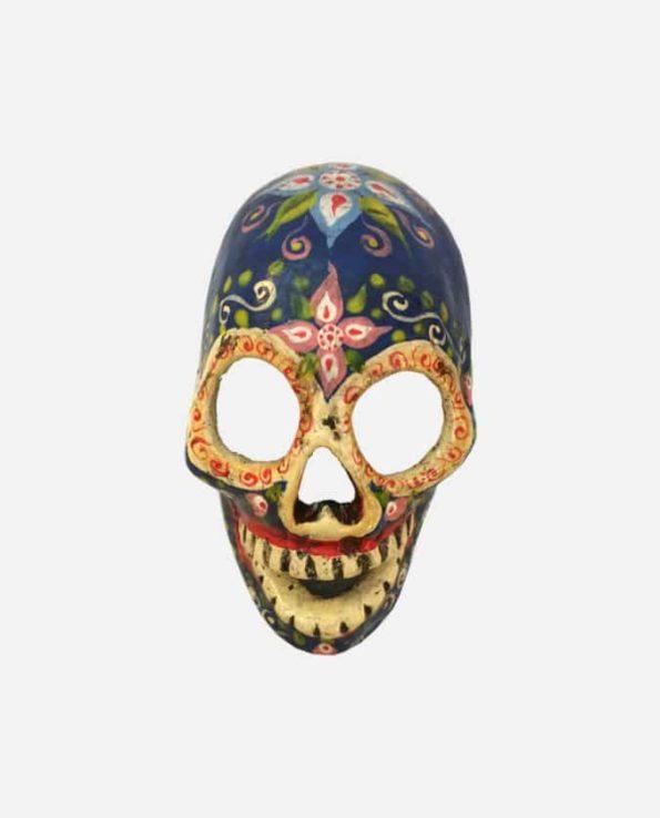 Crâne jour des morts bleu