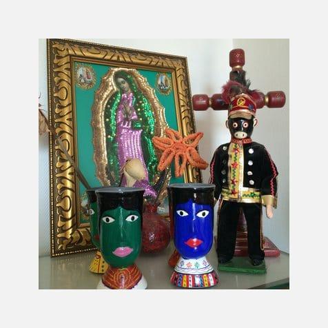 Décoration intérieure Guatemala - Cadres, statues et verres céramique