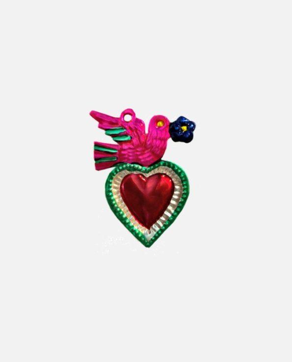 coeur ex-voto colombe au rameau - modèle 3