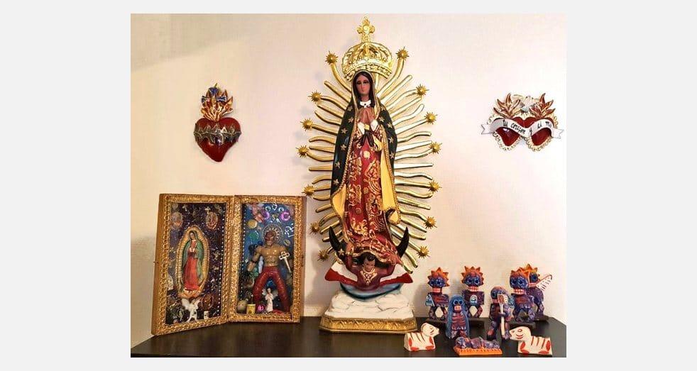 Décoration intérieure style mexicain de Laurence et Hervé - Autel Vierge de Guadalupe