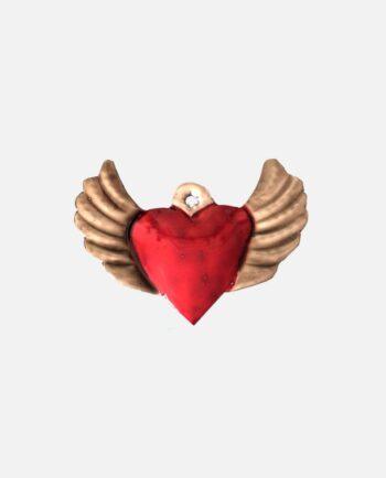 coeur ex-voto ailé
