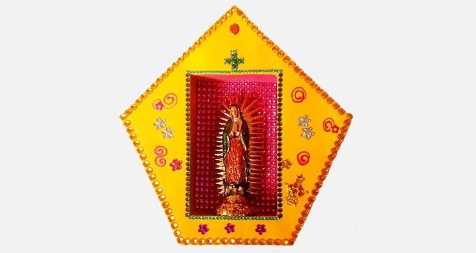 Niche vitrine mexicaine DIY Vierge de Guadalupe