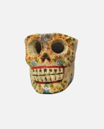 Bougeoir crâne jaune - face