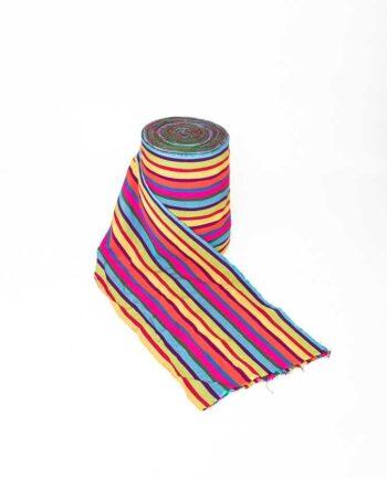 Textile typique du Guatemala - Modèle larges rauyres colorées