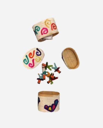 poupées tracas guatemala boîte peinte