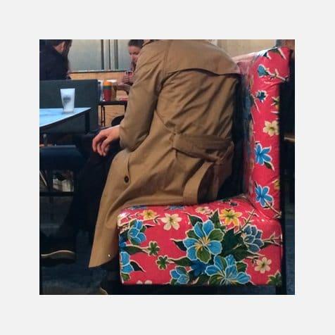 Toiles cirées mexicaines - banquettes du Grand Train à Paris - Modèle Hibiscus
