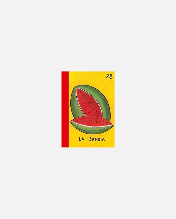 mini carnet kitsch vintage mexico La Sandia (Loteria mexicaine)