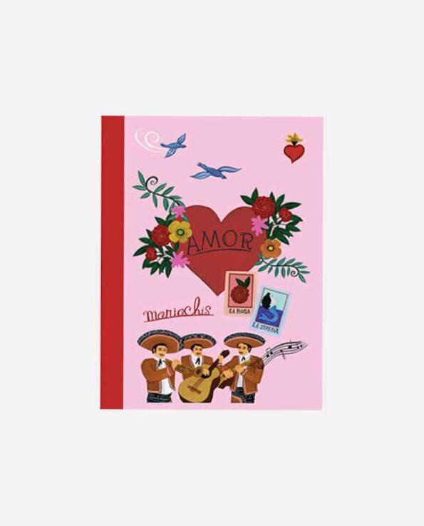 carnet de poche vintage mexico amour et mariachis