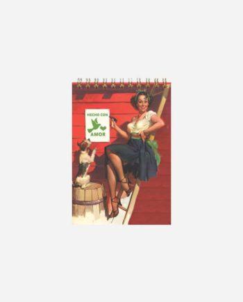 Carnet à spirale vintage mexicain Fait avec amour
