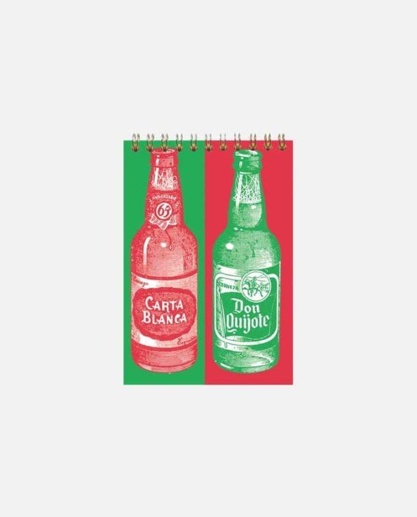 Carnet à spirale vintage mexicain publicité bières
