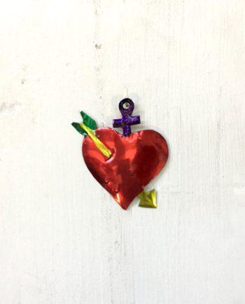 ex voto mexicain coeur Sainte Lance couleur