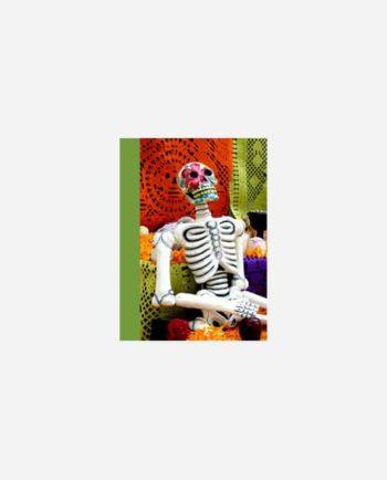 mini carnet kitsch vintage mexico calaca et papel picado