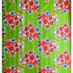Toile cirée mexicaine bouquet fleuri vert
