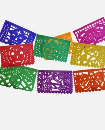 Guirlande Papel picado mexicain dia de muertos - grande