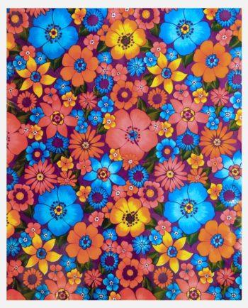 Toile cirée mexicaine Pluie de Fleurs