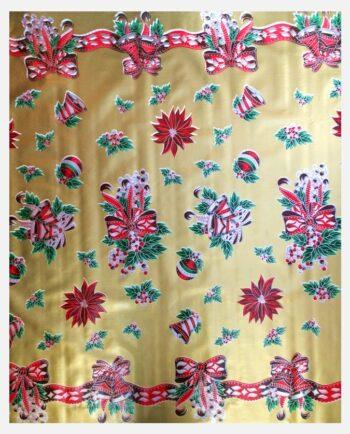 Toile cirée mexicaine décorations de fête fond Or