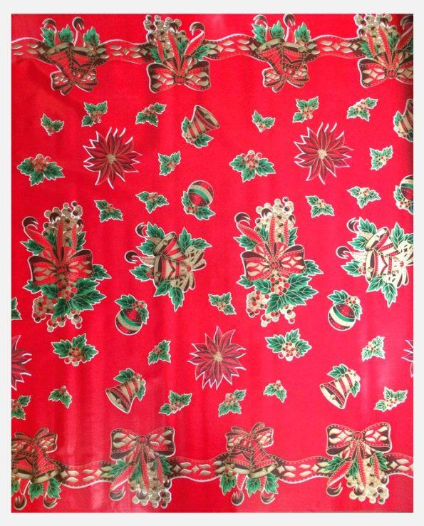 Toile cirée mexicaine décorations de fête fond rouge