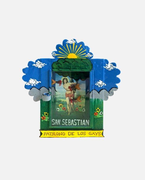 Nicho vitrine mexicaine Saint patron des gays