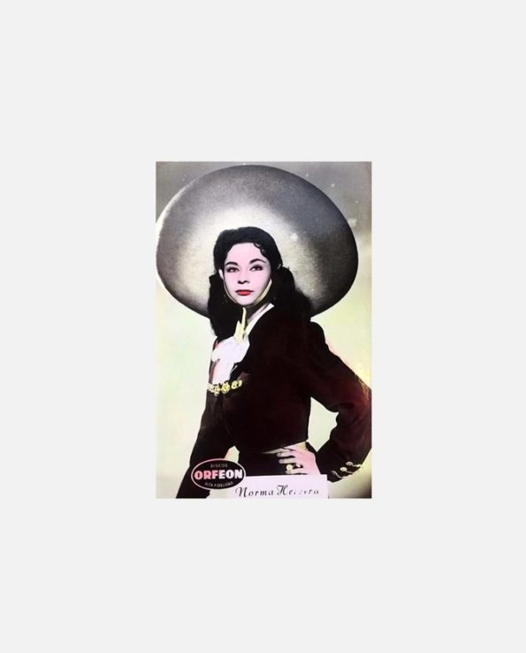 Carte rétro visages mexicains norma