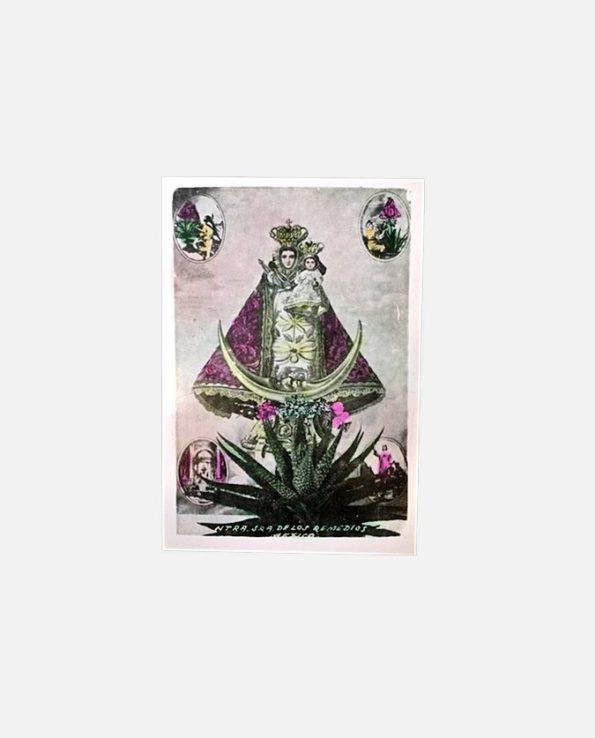 Carte rétro coloriée Vierge