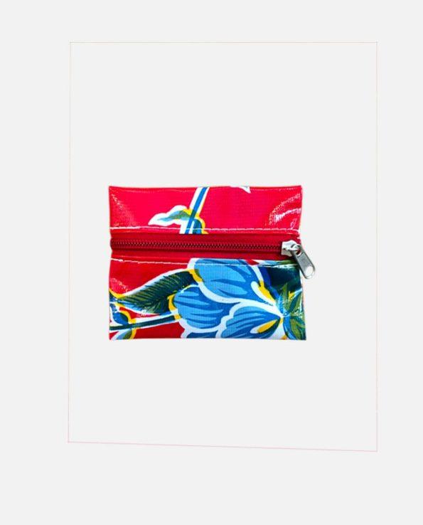 Porte-monnaie toile cirée mexicaine, petit 10,5*8cm