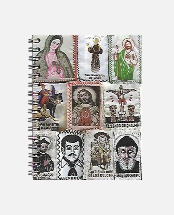 Carnet de notes amulettes religieuses mexicaines