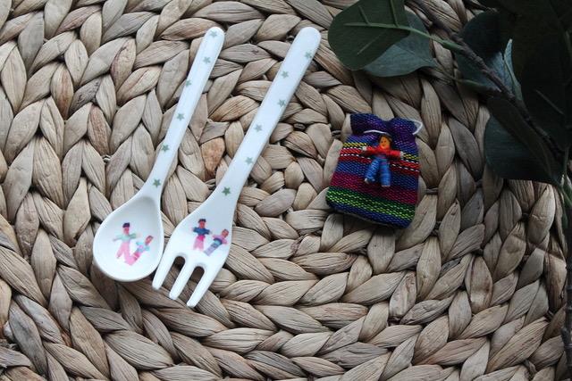 Couverts enfants poupées tracas du Guatemala