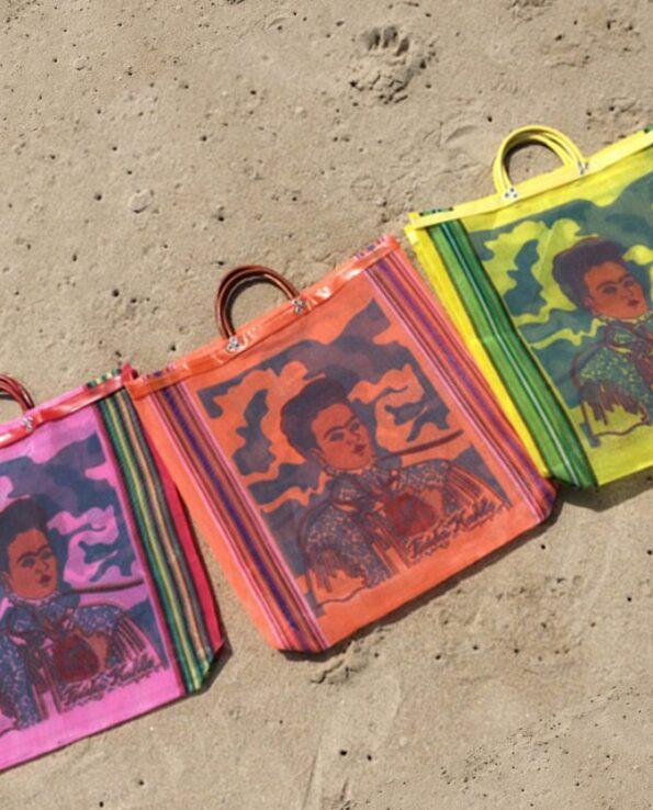 Sac Frida Kahlo anse courte (les 3 couleurs)